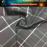 Bianco/Linee Verde, tessuto del plaid del poliestere tinto filato a terra nero per l'indumento (YD1175)