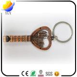 Corrente chave da lembrança relativa à promoção chave feita sob encomenda da lembrança 3D do metal da forma
