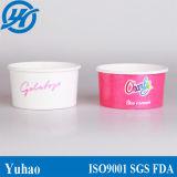 Tazas multi del helado del papel de buena calidad del color