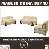 Alta qualidade de couro italiana do sofá do escritório do assento da madeira contínua 123