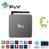Android 6.0 Fernsehapparat-Kasten Kodi 17.0 Tx8 Amlogic S912 4k 64-bit niedriger Preis von P&Y