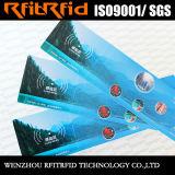 biglietto di carta dell'autoadesivo RFID di colore 13.56MHz