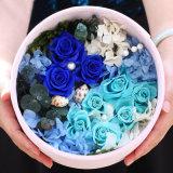 熱い販売法の防水ペーパー円形の管の花の包装のギフト用の箱のローズの荷箱