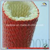 高温に炎の抵抗のシリコーンゴムのガラス繊維のスリーブを付けること