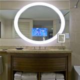 Espelho de vaidade iluminado fixado na parede aprovado do banheiro de ETL Fogless