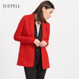 Longue jupe de procès de femmes de blazer de chemise de bureau rouge