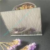 밝은 밤색 박판으로 만들어진 유리 또는 예술 유리 또는 전기 미러를 가진 유리제 장식적인 유리를 새기기