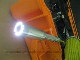 Macchina fotografica subacquea di controllo del tubo per fognatura con il cavo di 20-100m