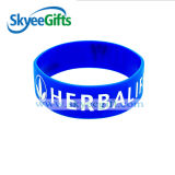 Wristband personalizado do silicone com logotipo Debossed