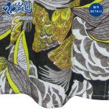 Mehrfarbenc$v-ausschnitt lange Hülsen-Muster-Tasten-bequeme lose Dame-Bluse