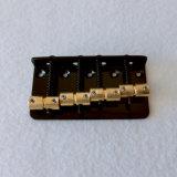 Мост баса шнура цвета 4 надувательства черный с латунными седловинами
