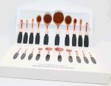 Maakt de PROMake-up van de Studio van de Borstels van de Make-up van de tand 10PC omhoog tot Kosmetische Borstel Vastgestelde Uitrusting