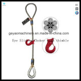 Esguichade de corda de fio de perna única - Gargantilha de deslizamento de olho com dedal