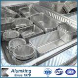 Envase del papel de aluminio con la tapa de papel
