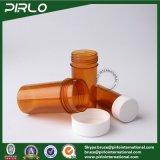 20ml 30ml 50mlのこはく色カラーねじ帽子が付いているプラスチック薬の薬瓶