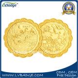 ダイヤモンドの端が付いているカスタマイズされた金の金属の硬貨