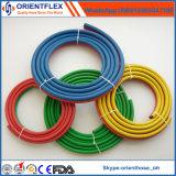 Tubo flessibile gemellare rosso e blu della gomma della saldatura