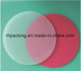 Hoja plástica transparente y rosada de los PP, Correx, Corflute, fabricante de Coroplast con cortar con tintas para la protección