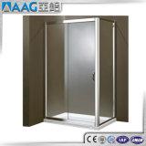 Porte en verre en aluminium de douche de modèle populaire