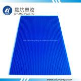 Het blauwe Plastic Holle Blad van PC van het Polycarbonaat met UVDeklaag