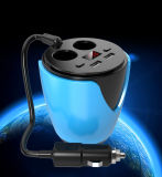 LED Display Cup Shape Dual USB Ports Car Battery Charger