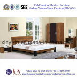 Italia dormitorio cama de cuero adulto juego de muebles de madera (SH-010 #)