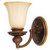 Lampada da parete Bronze antica di vetro opalino Bl-425