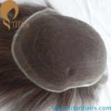 Naturlal Hairline French Lace Indian Hair Men's Toupee