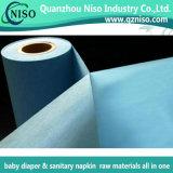 Spostando la pellicola dell'imballaggio per le materie prime del tovagliolo sanitario (LS-T05)