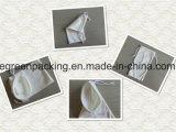Bolsa blanca de las gafas de sol de Microfiber del color con el lazo