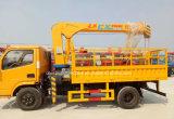 Dongfeng 2개 T 망원경 기중기 트럭 트럭에 의하여 거치되는 기중기 2 톤