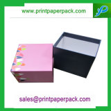 끈 손잡이를 가진 주문 2 조각 엄밀한 판지 상자 선물 종이상자 보석함