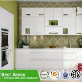 Гарантированная качеством кухня материала кухонного шкафа PVC фабрики сразу
