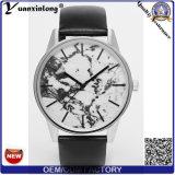 Do negócio quente do relógio de pulso das mulheres do couro genuíno de relógio de senhoras do relógio da face do mármore da venda da promoção Yxl-059 relógios de forma luxuosos