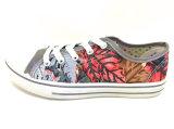 Zapatos planos del ocio del zapato de lona de la inyección de las mujeres de comodidad (FFDL0114-02)