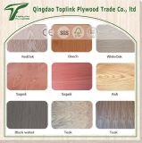高品質の低価格の黒いクルミの空想の合板の商業合板によって薄板にされる合板