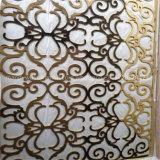 황금 미러 완료 스테인리스 Laser 커트 벽면