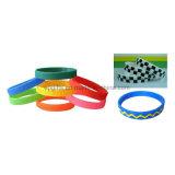 Incandescenza in braccialetto scuro della mano dei Wristbands del silicone