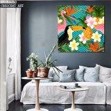 Stampe moderne della tela di canapa dei fiori e degli uccelli