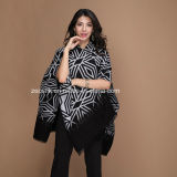 Lady Black Gemotric Pattern 100s 100% Rayon Shawls