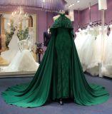 Árabe uma linha vestido de noite do casamento da cabeçada com trem