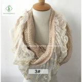 Грелка шеи шарфа безграничности способа шнурка зимы связанная Mohair