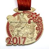 2017 신제품 주문 수탉 기념품 금속 메달