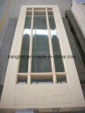 ガラスパネルの内部の木のドア(KD17B-G) (純木のドア)