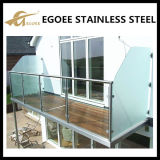 Barandilla de cristal de la barandilla del acero inoxidable para el balcón