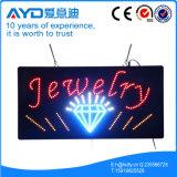 Muestra brillante de la joyería LED del rectángulo de Hidly alta