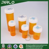 30ml 50ml 60ml 80ml 120ml 160ml 240ml Kind-Sicherheits-Apotheke-Flaschen-Tablette-Pille-Phiole, die umschaltbare Plastikphiolen verpackt