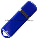 A vara de anúncio azul da memória Flash do USB do logotipo com logotipo imprimiu (101)