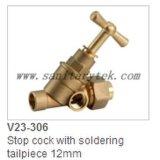 A torneira de batente de bronze com compressão termina (V23-304)