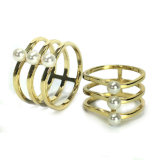O acoplamento de cristal CZ dos homens das mulheres de Gemstone do diamante do ouro do anel da jóia da forma soa o anel branco da pérola do anel de casamento da prata esterlina da CZ 925 do brilho do costume simplesmente